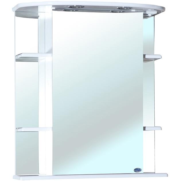 Зеркальный шкаф Bellezza Магнолия 55 с подсветкой R Белый зеркальный шкаф bellezza пегас 90 r бежевый