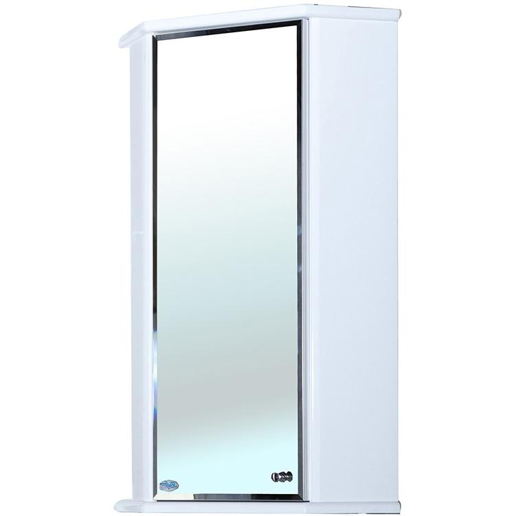 Зеркальный шкаф Bellezza Лилия 34 угловой R Белый зеркальный шкаф bellezza пегас 90 r бежевый