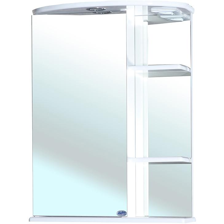 Зеркальный шкаф Bellezza Нарцисс 55 с подсветкой R Белый зеркальный шкаф bellezza андрэа 80 r черный