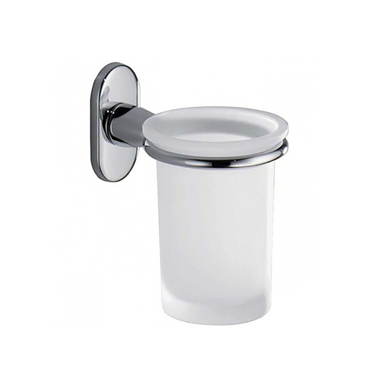 Стакан для зубных щеток Colombo Design Bart B2202.000 Белый, Хром цена и фото