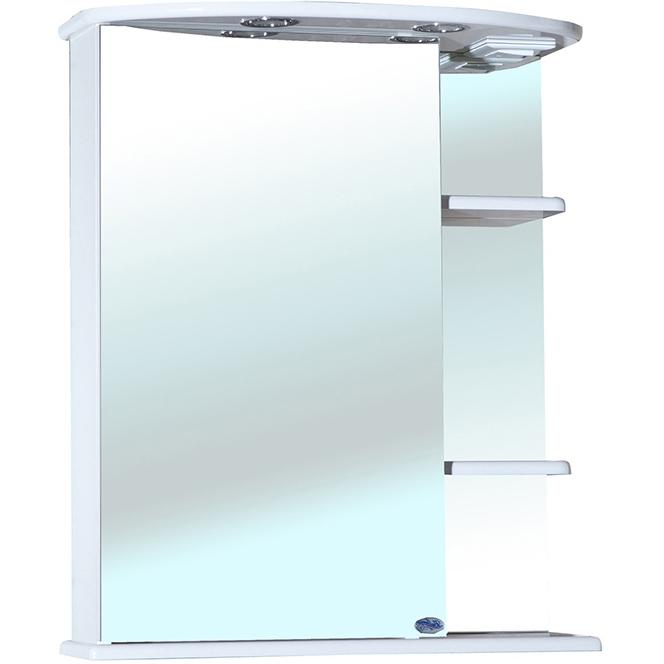 Зеркальный шкаф Bellezza Магнолия 60 с подсветкой R Белый зеркальный шкаф bellezza магнолия 55 с подсветкой r белый