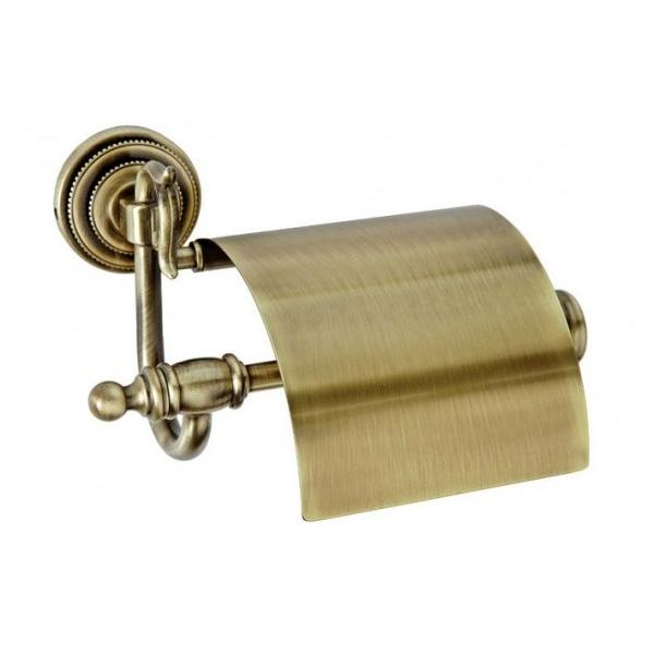 Держатель туалетной бумаги с крышкой Boheme Medici 10601 Бронза держатель для туалетной бумаги tw harmony twha219 бронза