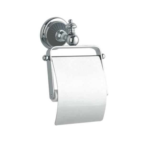 Фото - Держатель туалетной бумаги с крышкой Boheme Vogue Nero 10181 Хром держатель туалетной бумаги gemy xga60058t хром