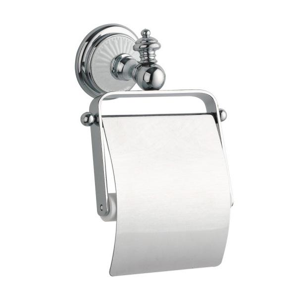 Фото - Держатель туалетной бумаги с крышкой Boheme Vogue Bianco 10131 Хром держатель туалетной бумаги gemy xga60058t хром
