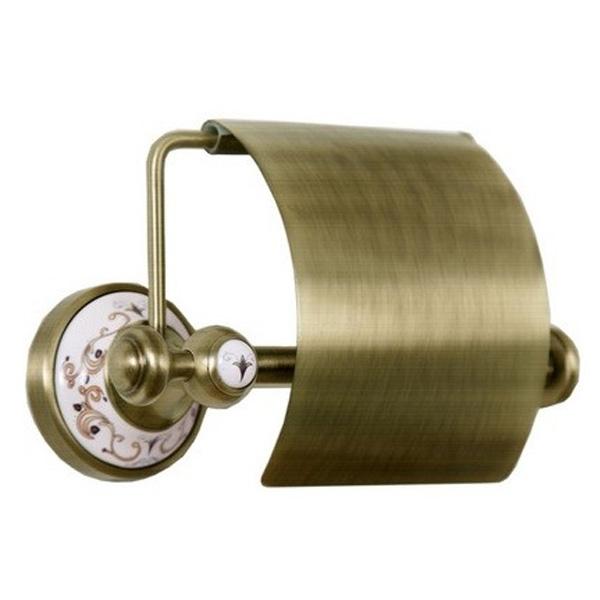 Держатель туалетной бумаги с крышкой Boheme Provanse 10801 Бронза держатель для туалетной бумаги tw harmony twha219 бронза