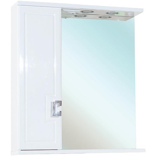 Зеркальный шкаф Bellezza Миа 60 с подсветкой L Белый зеркальный шкаф bellezza миа 85 с подсветкой l белый