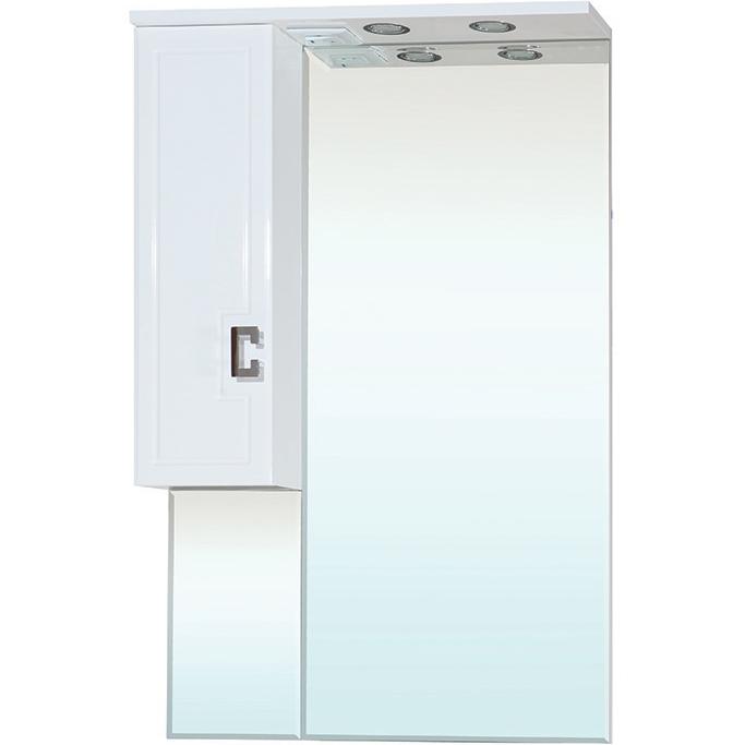 Зеркальный шкаф Bellezza Миа 65 с подсветкой L Белый зеркальный шкаф bellezza миа 85 с подсветкой l белый