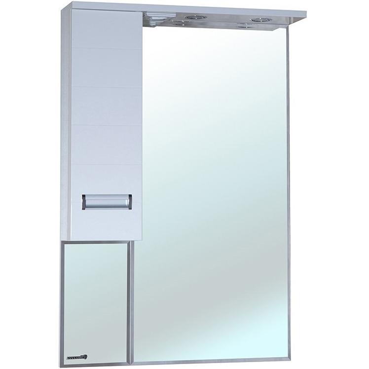 Зеркальный шкаф Bellezza Сиена 60 с подсветкой R Белый зеркальный шкаф bellezza миа 85 с подсветкой l белый
