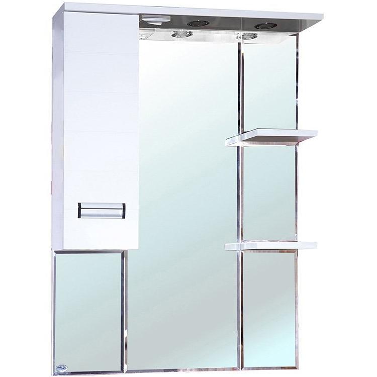 Зеркальный шкаф Bellezza Сиена 80 с подсветкой R Белый зеркальный шкаф bellezza миа 85 с подсветкой l белый