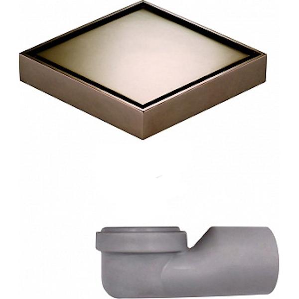 Душевой трап MAGdrain W02G50-RL с решеткой Золото Розовое