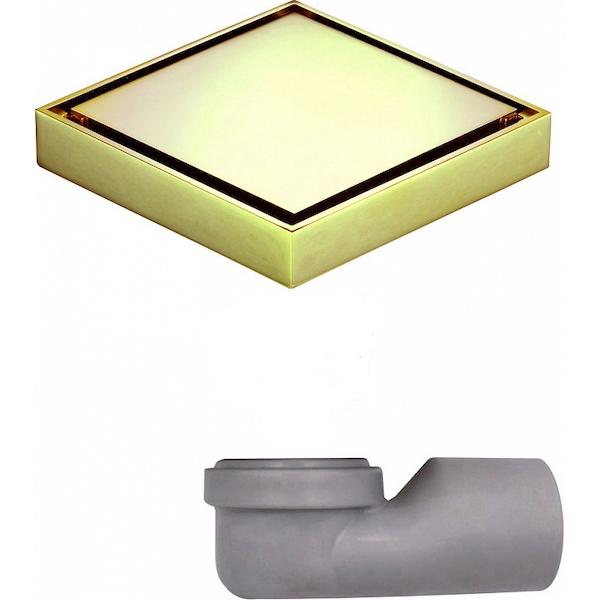 Душевой трап MAGdrain W03G50-ZL с решеткой Золото