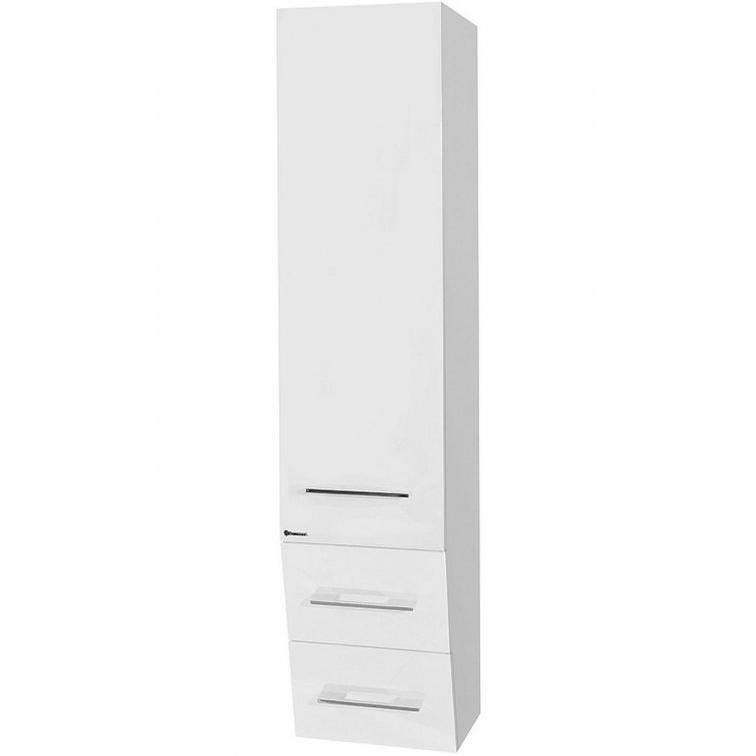 Шкаф пенал Bellezza Берта 40 подвесной L Белый шкаф пенал bellezza версаль 40 подвесной l белый