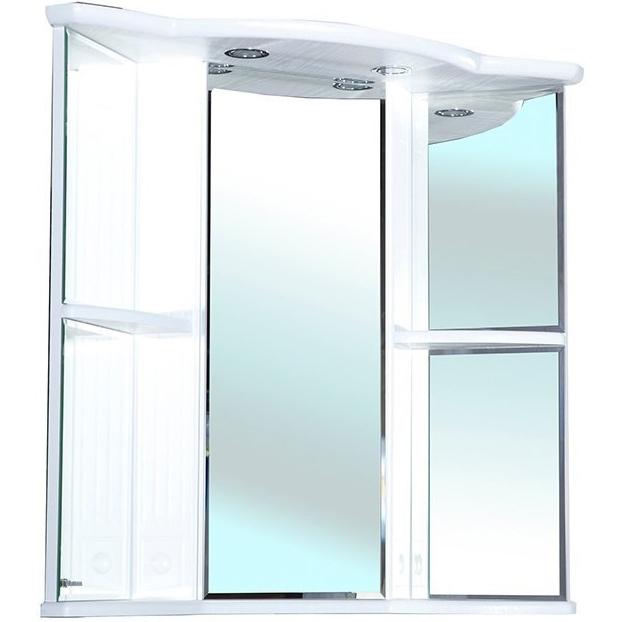 Зеркальный шкаф Bellezza Венеция 60 угловой с подсветкой R Белый зеркальный шкаф bellezza пегас 60 r черный