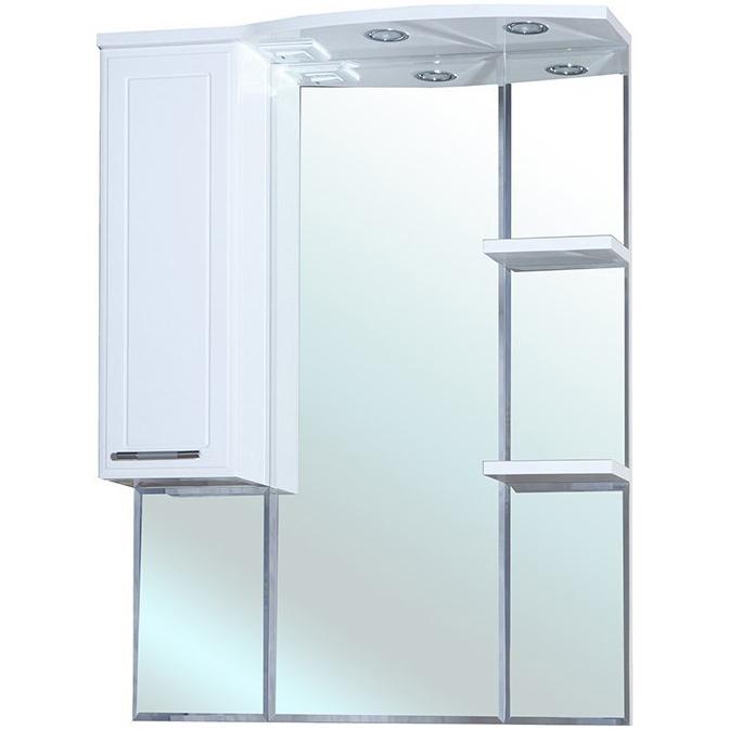 Зеркало со шкафом Bellezza Коралл 85 с подсветкой L Белое зеркало со шкафом bellezza коралл 85 с подсветкой l белое