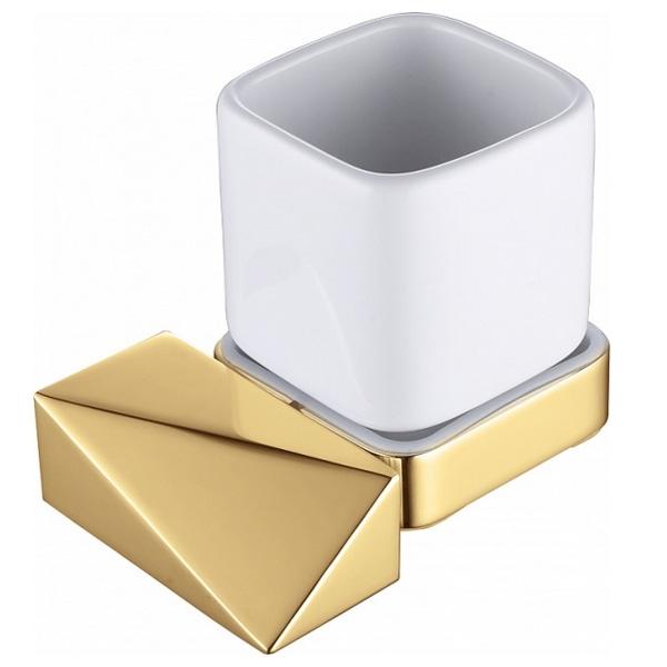 Стакан для зубных щеток Boheme New Venturo 10314-G Золото Белый стакан для зубных щеток boheme chiaro 10504 золото