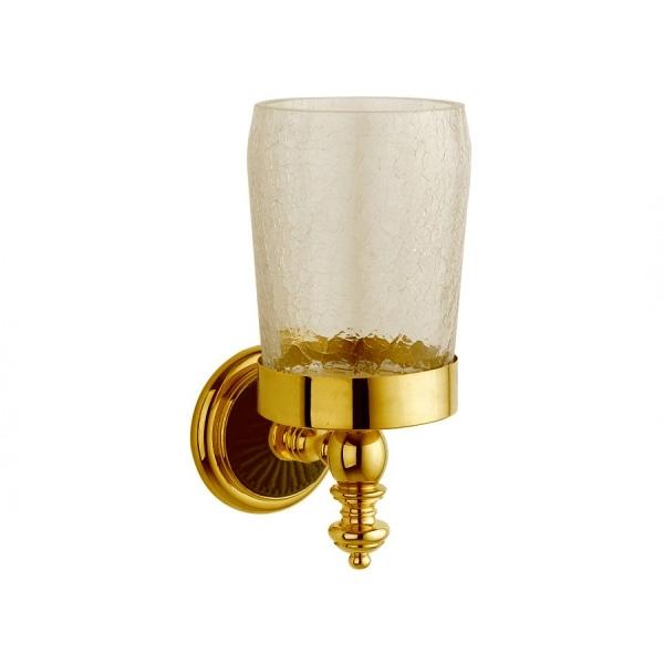 Стакан для зубных щеток Boheme Palazzo Nero 10154 Золото стакан для зубных щеток boheme chiaro 10504 золото