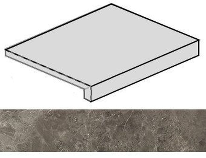 Ступень угловая Italon Room Grey Stone правая 620070001221 33х60 см