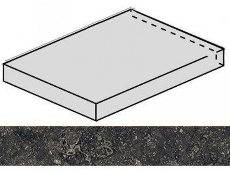 купить Ступень угловая Italon Room Black Stone левая 620070001226 33х60 см дешево