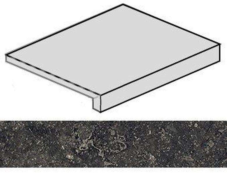 Ступень угловая Italon Room Black Stone правая 620070001222 33х60 см ступень угловая dvomo tera правая 33х67 5 см