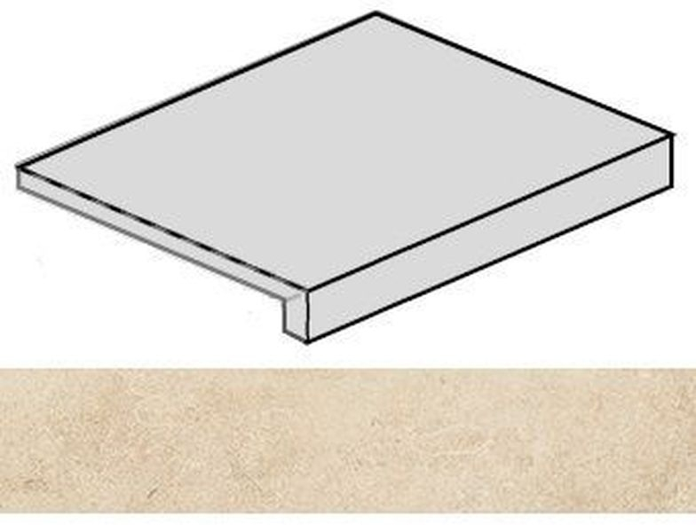 купить Ступень угловая Italon Room Beige Stone правая 620070001220 33х60 см дешево