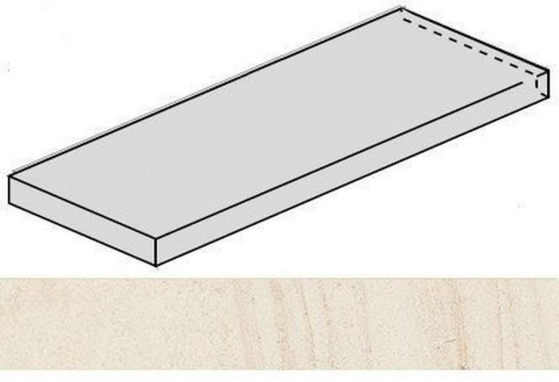 Ступень угловая Italon Room White Stone левая 620070001235 33х120 см