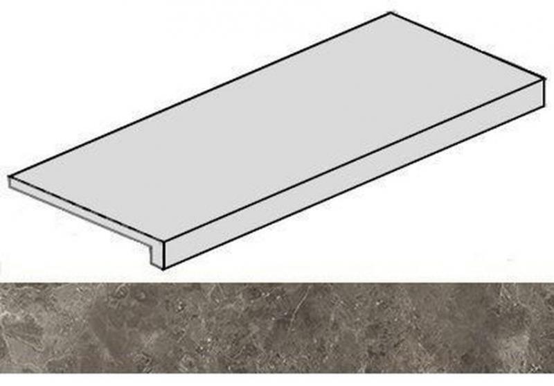 Ступень фронтальная Italon Room Grey Stone 620070001229 33х120 см