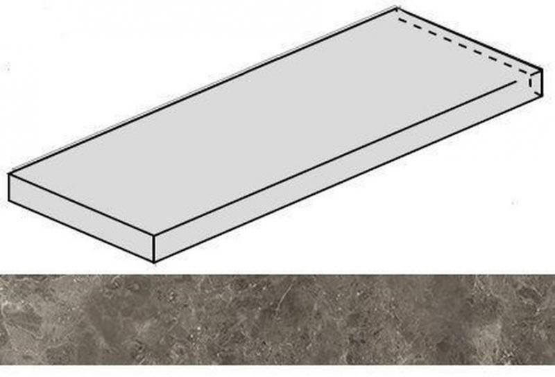 Ступень угловая Italon Room Grey Stone левая 620070001237 33х120 см