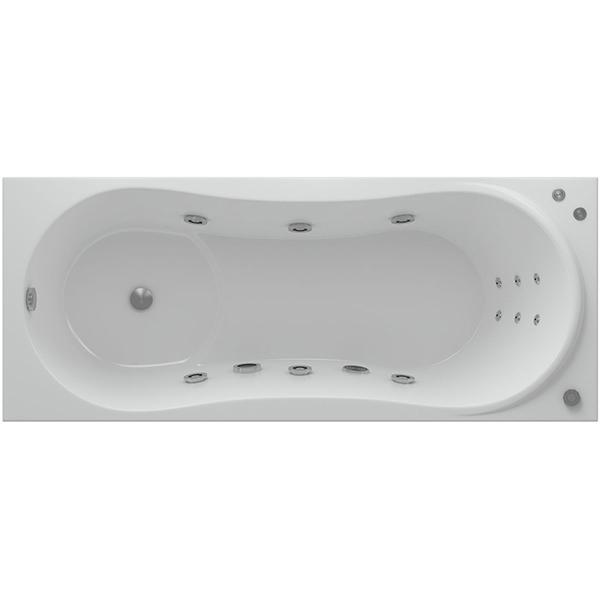 Акриловая ванна Акватек Афродита 150x70 с гидромассажем плоские форсунки Бронза акриловая ванна акватек пандора 160х75 r с гидромассажем плоские форсунки бронза