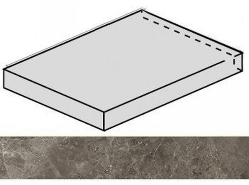 Ступень угловая Italon Room Grey Stone левая 620070001225 33х60 см