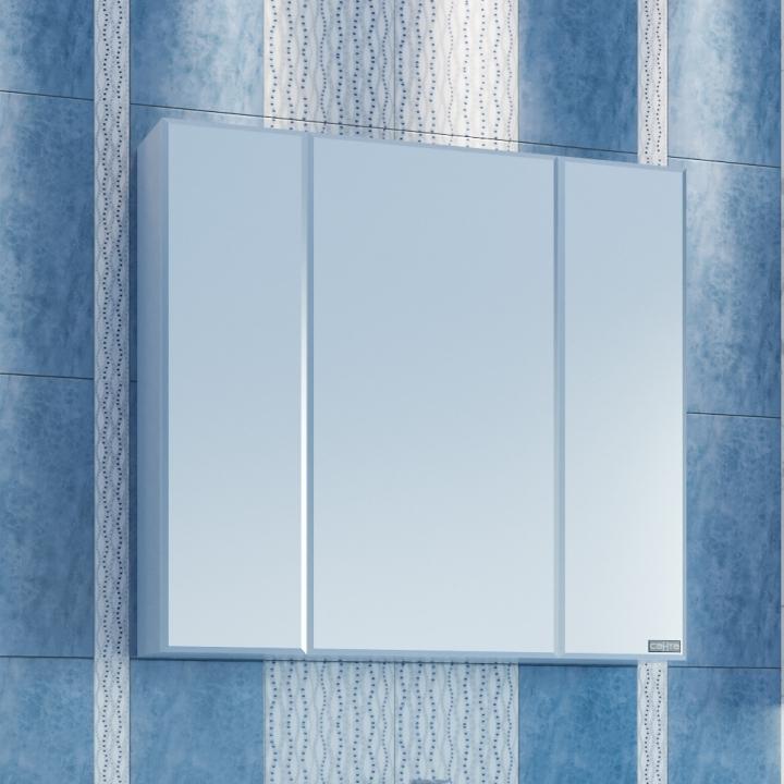Зеркальный шкаф СанТа Стандарт 80 Белый зеркальный шкаф санта коралл 80 l белый