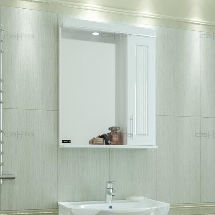 Зеркальный шкаф СанТа Сиэтл 60 R Белый