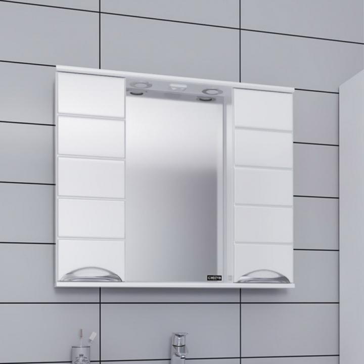 Зеркальный шкаф СанТа Родос 80 Белый зеркальный шкаф санта коралл 80 l белый