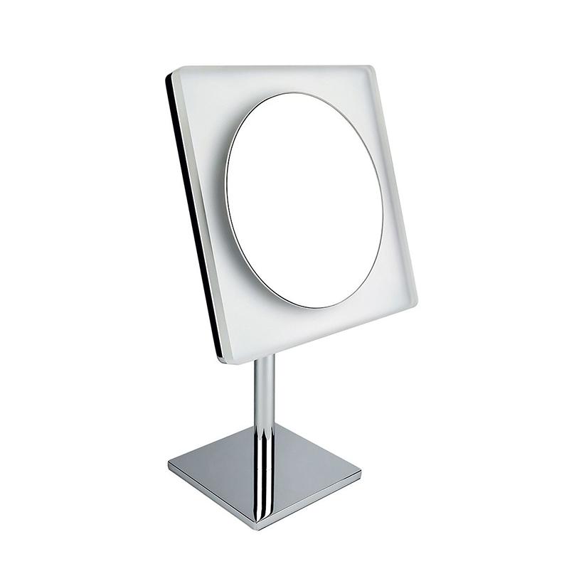 Косметическое зеркало Colombo Design Complementi B9755.0CR с увеличением и подсветкой Белый, Хром косметическое зеркало raiber rmm 1114 с увеличением и подсветкой хром