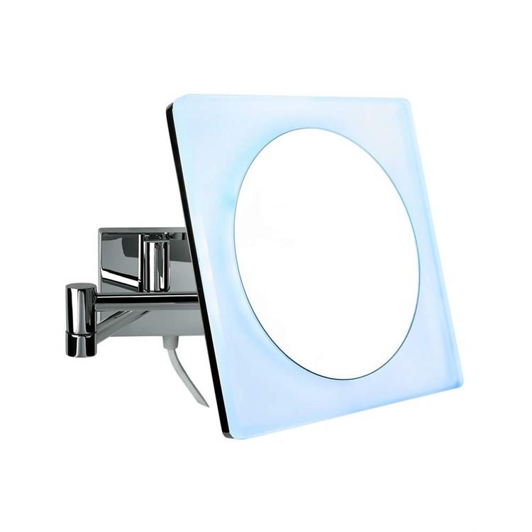 Косметическое зеркало Colombo Design Complementi B9756.0CR с увеличением и подсветкой Белый, Хром косметическое зеркало raiber rmm 1114 с увеличением и подсветкой хром