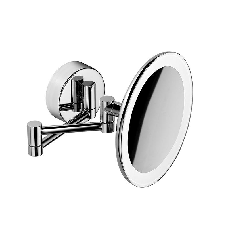 Косметическое зеркало Colombo Design Complementi B9751 с увеличением и подсветкой Белый, Хром косметическое зеркало raiber rmm 1114 с увеличением и подсветкой хром