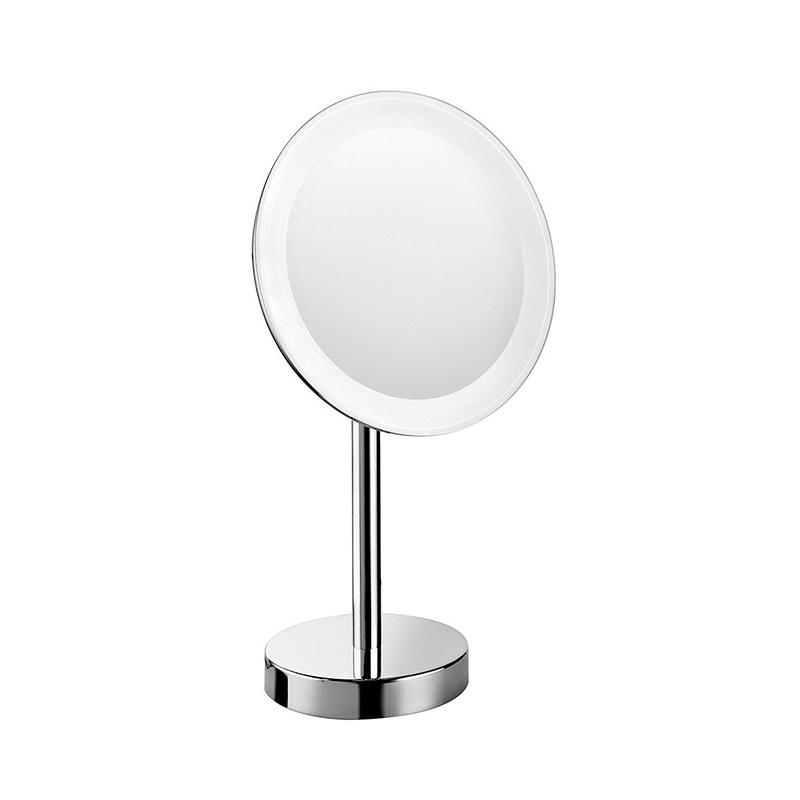 Косметическое зеркало Colombo Design Complementi B9750 с увеличением и подсветкой Белый, Хром косметическое зеркало raiber rmm 1114 с увеличением и подсветкой хром