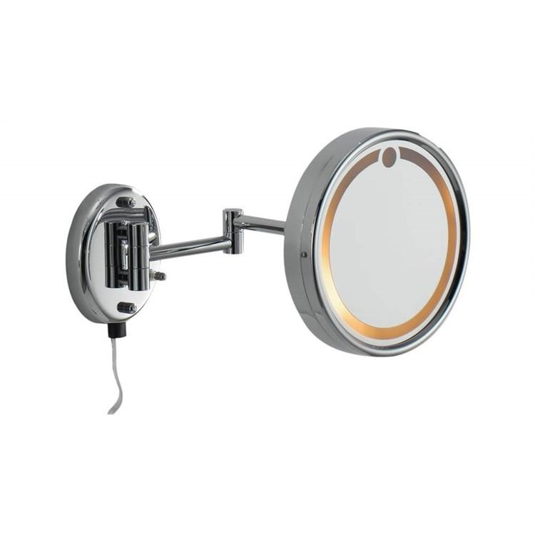 Косметическое зеркало Colombo Design Hotel collection B9966 с увеличением и подсветкой Хром косметическое зеркало raiber rmm 1114 с увеличением и подсветкой хром