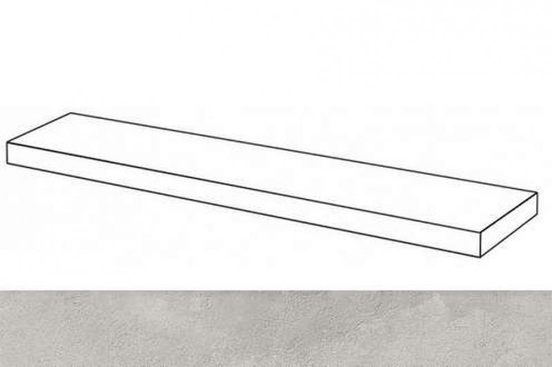 Ступень угловая Italon Millenium Silver правая 620070001273 33х120 см ступень угловая dvomo adrenaline silver правая 33х67 5 см
