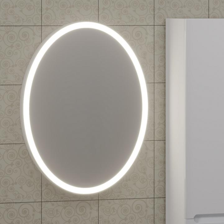 Зеркало СанТа Луна 60 с подсветкой и сенсорным выключателем зеркало sanvit кубэ 70 с подсветкой с сенсорным выключателем