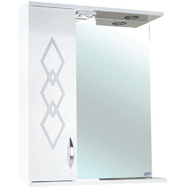 Зеркальный шкаф Bellezza Элеганс 50 с подсветкой L Бежевый зеркальный шкаф bellezza астра 55 с подсветкой l бежевый