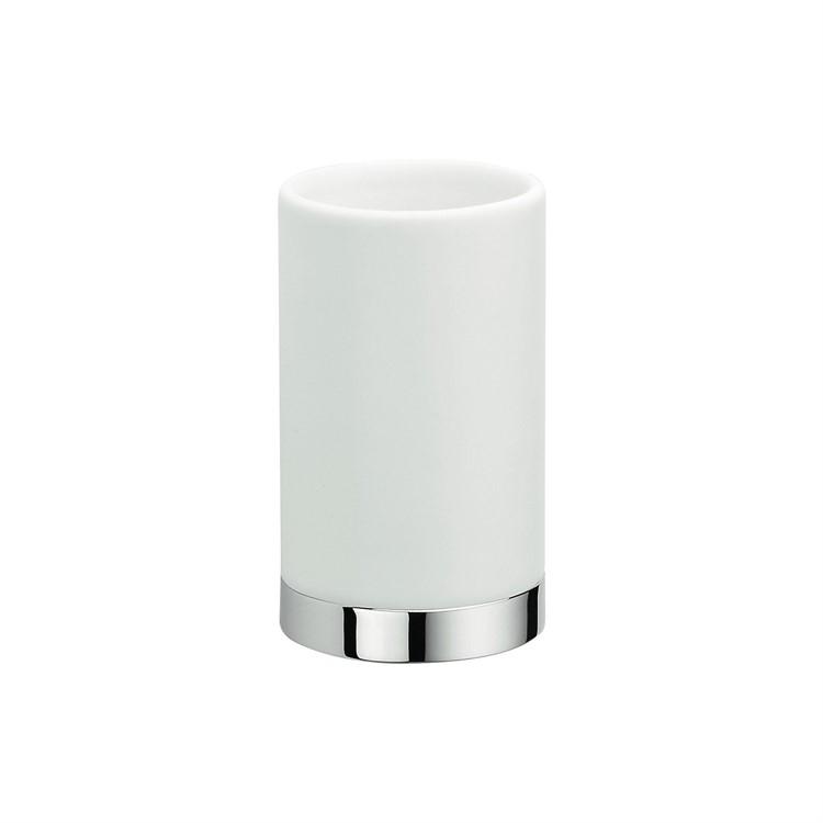 Стакан для зубных щеток Colombo Design Nordic B5241.0CR-CBO Белый, Хром цена и фото