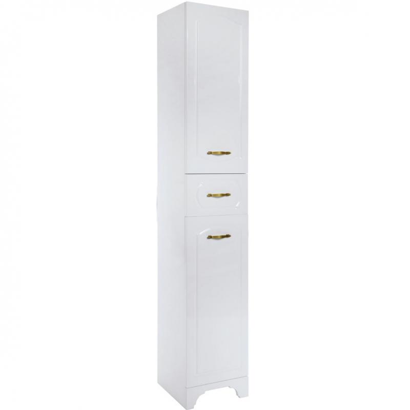 Шкаф пенал Bellezza Тиффани 35 с бельевой корзиной Белая шкаф пенал bellezza рокко 35 подвесной красный белый