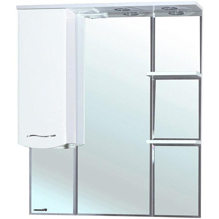 Зеркало со шкафом Bellezza Мари 85 с подсветкой L Белое зеркало со шкафом bellezza коралл 85 с подсветкой l белое