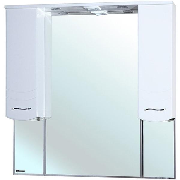 Зеркальный шкаф Bellezza Мари 105 с подсветкой Белый зеркальный шкаф bellezza миа 85 с подсветкой l белый