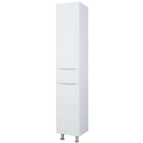 Шкаф пенал Bellezza Эвита 35 L Белый шкаф пенал bellezza андрэа 35 с бельевой корзиной l черный