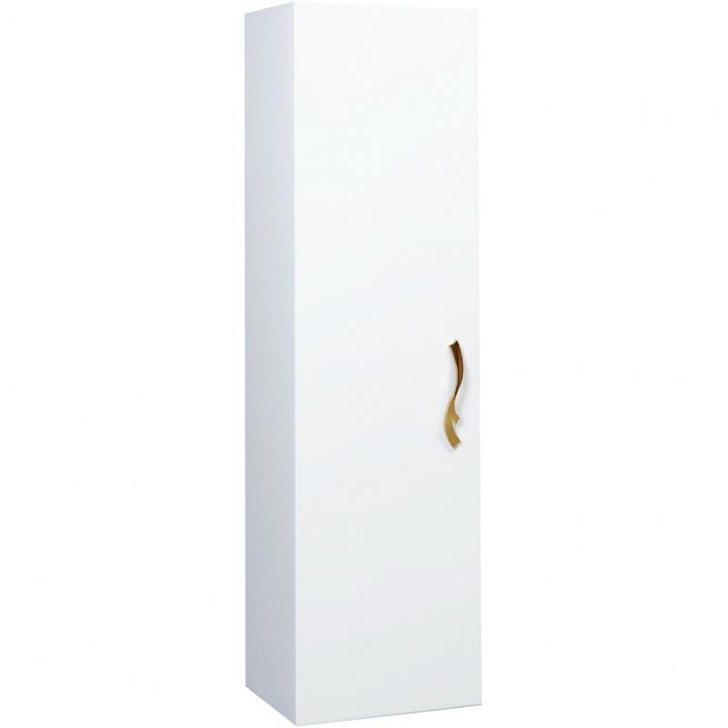 Шкаф пенал Bellezza Римини 35 подвесной L Белый шкаф пенал bellezza андрэа 35 с бельевой корзиной l черный
