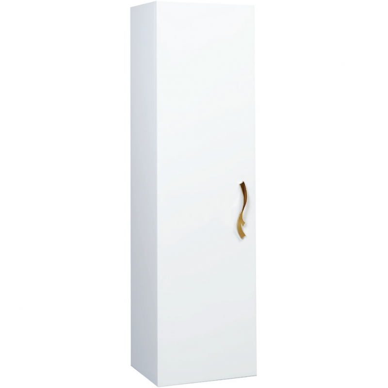 Шкаф пенал Bellezza Римини 35 подвесной L Белый шкаф пенал bellezza луиджи 35 подвесной l белый