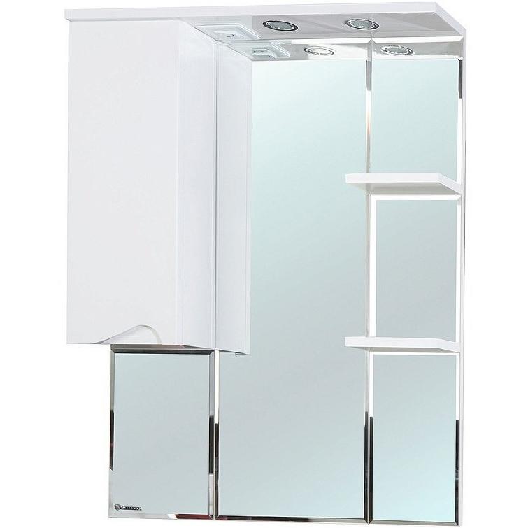 Зеркало со шкафом Bellezza Эйфория 80 с подсветкой R Бежевое фото