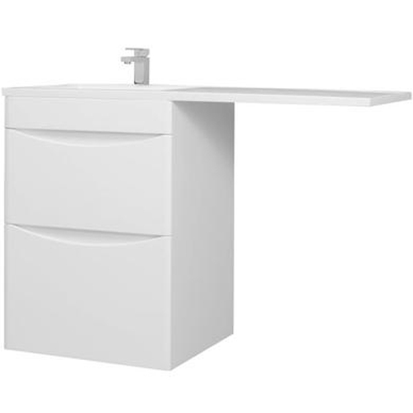 Тумба c раковиной Bellezza Олиссия 120 2 ящика R Белая мебель для ванной эстет dallas luxe r 120 напольный два ящика белый