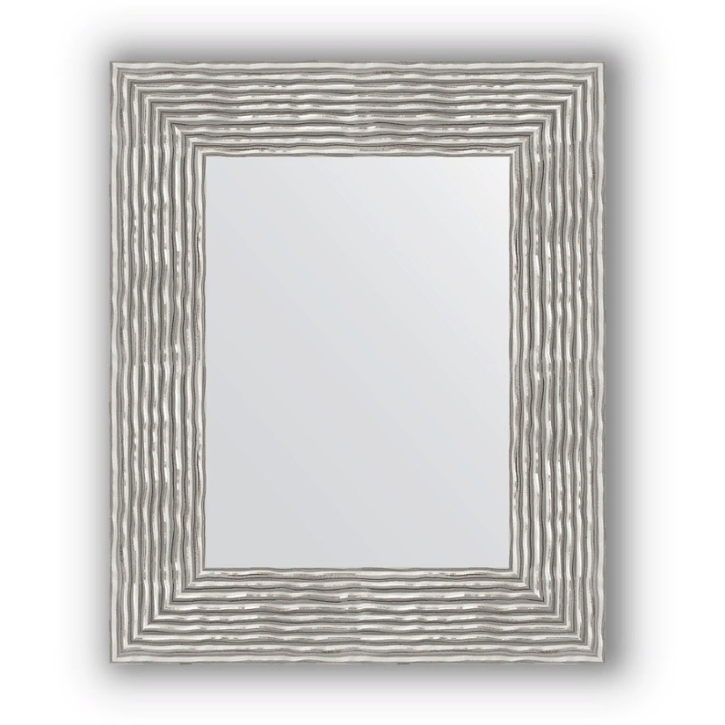 Зеркало Evoform Definite 80х60 Чеканка серебряная